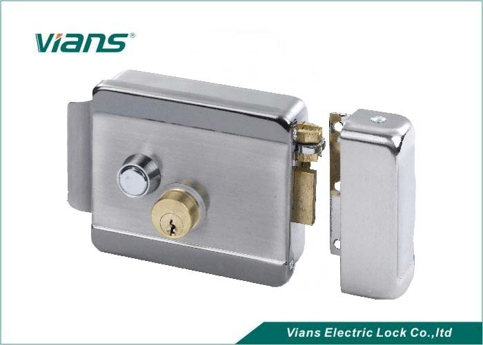 Home High Security Electric Rim Lock With Double Cylinder Push Button , 123 X 106 X 35mm